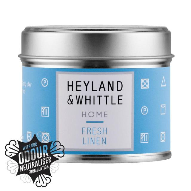 Heyland & Whittle Home Solutions Fresh Linen Tin Candle