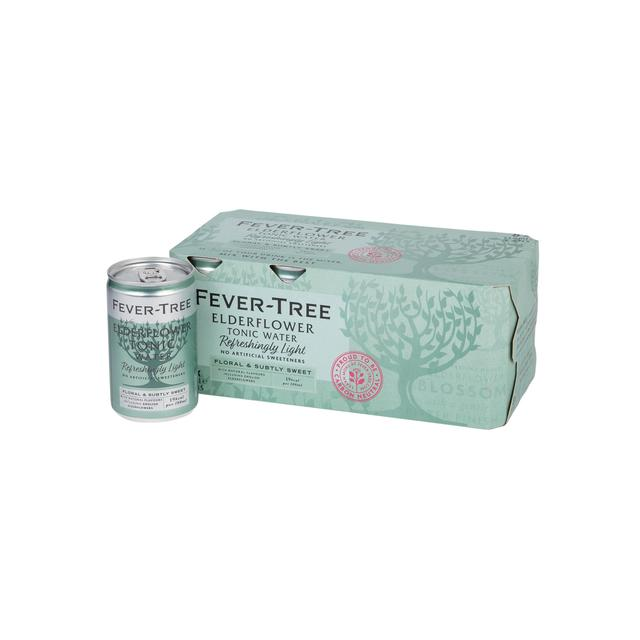 Fever-Tree Refreshingly Light Elderflower Tonic Water Cans