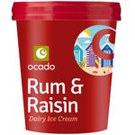 Ocado Rum & Raisin Ice Cream