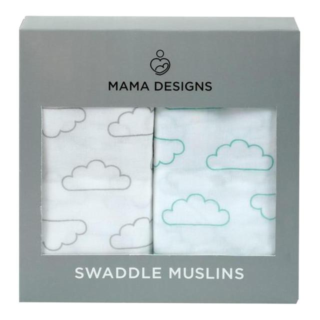 Mama Designs Swaddle Muslins Clouds