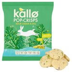 Kallo Sour Cream & Dill Pop-Crisps