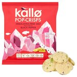 Kallo Himalayan Pink Salt & Black Pepper Pop-Crisps