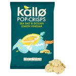 Kallo Sea Salt & Sicilian Lemon Vinegar Pop-Crisps Sharing Bag