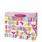 Birthday Pop Gift Bag Fuchsia, Medium