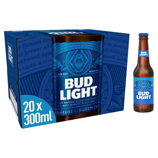 bud light 20 x 300ml from ocado