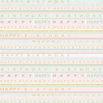 Birthday Stripe Gift Wrap Sheets