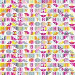 Birthday Pop Gift Wrap Sheets, Fuschia