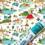 Gone Camping Gift Wrap Sheets