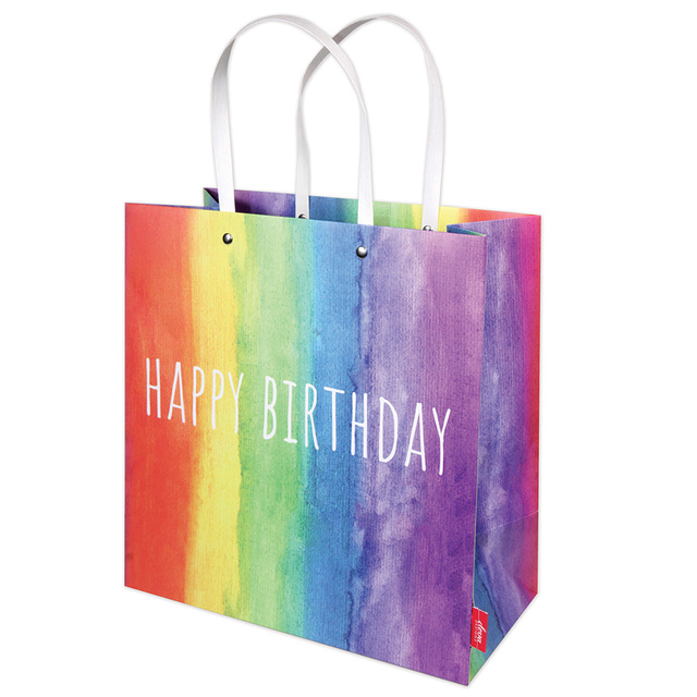 Rainbow Birthday Gift Bag Large 26 X 32cm