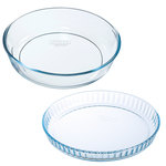 Pyrex Cake and Flan Dish Set