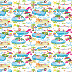Pool Party Gift Wrap Sheets