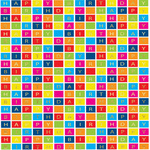 Birthday Bright Squares Gift Wrap Sheets