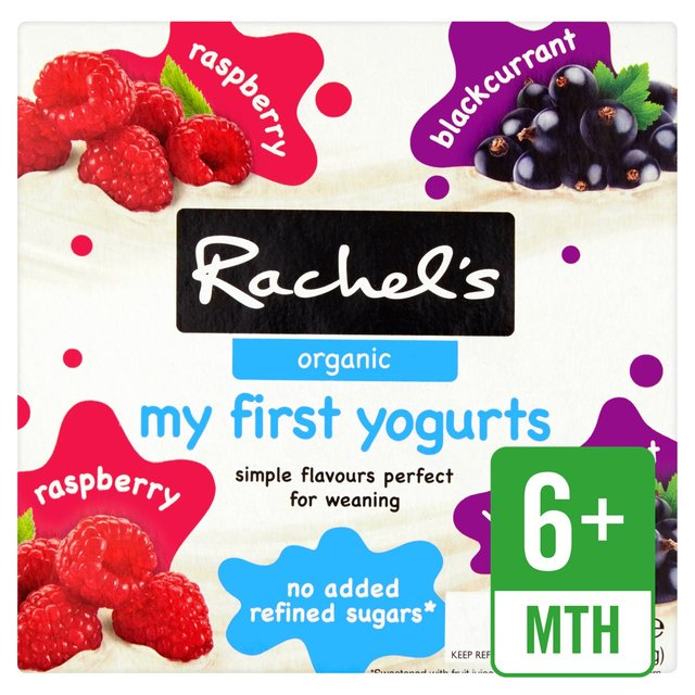 Rachel's Organic My First Raspberry & Blackberry Yogurts