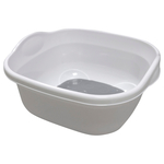 Addis Premium Soft Touch Washing Up Bowl, White / Grey