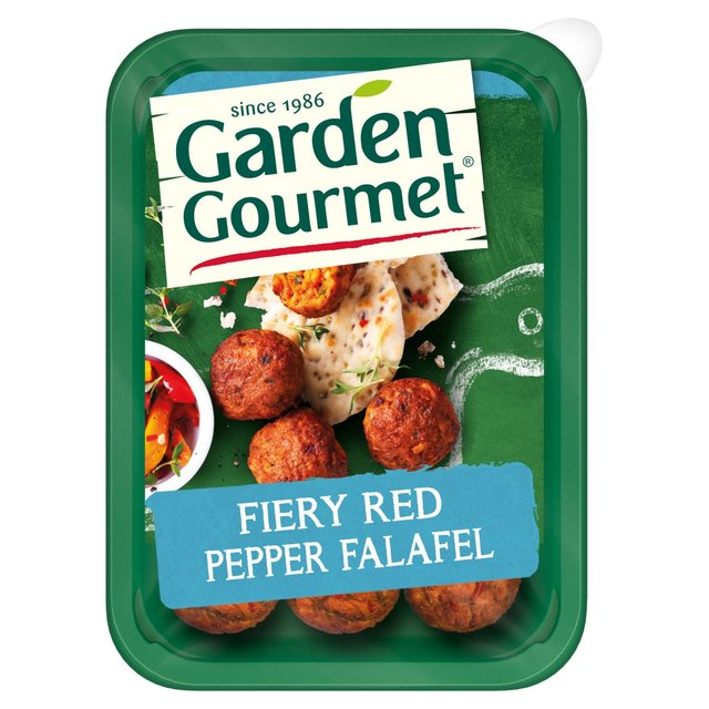 Garden Gourmet 9 Fiery Red Pepper Falafel 190g from Ocado