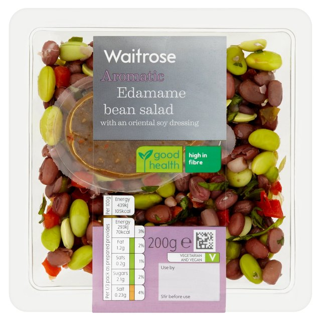 Offer - Adzuki & Edamame Bean Salad Waitrose 200g