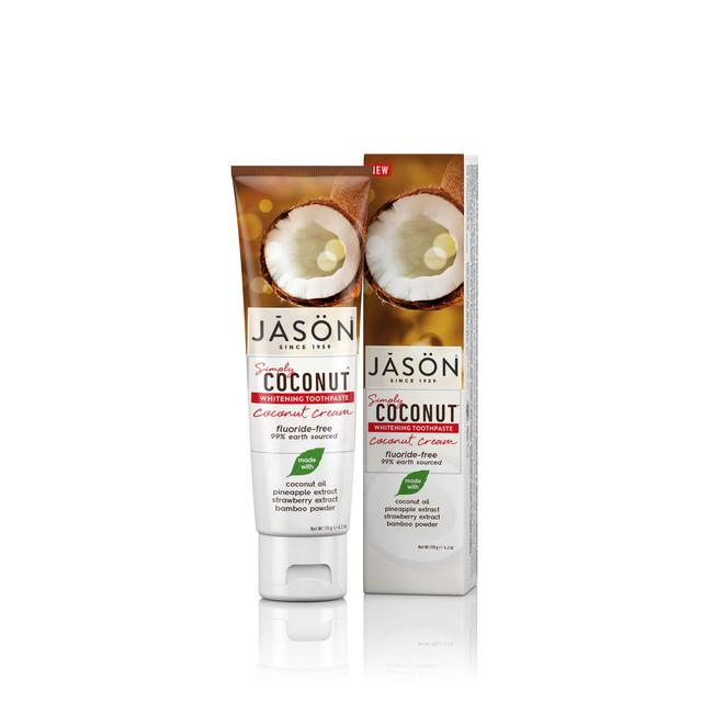 Jason Simply Coconut Whitening Toothpaste, Coconut Cream