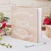 Ginger Ray Wedding Wooden Guest Book