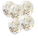 Ginger Ray Confetti 'I Do Crew' Balloons, Gold