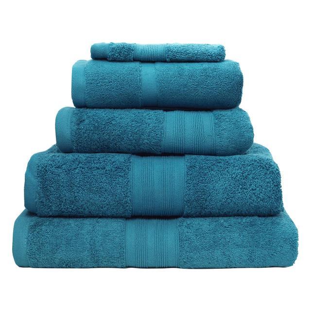 db95e70dc485 Waitrose 100% Egyptian Cotton Towel, Peacock Blue from Ocado