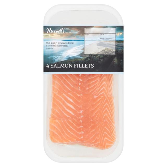 Russell's 4 Salmon Fillets Skin On