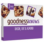 Goodness Knows 3 Raisin, Oat & Almond Bars