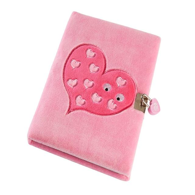 Tinc Mallo Snuggly Lockable Journal, Pink