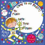 Rachel Ellen Designs Spaceman Party Invites