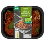 Waitrose Italian Lentil & Mushroom Ragu with Wholewheat Spaghetti