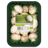 Organic White Cup Mushrooms Waitrose