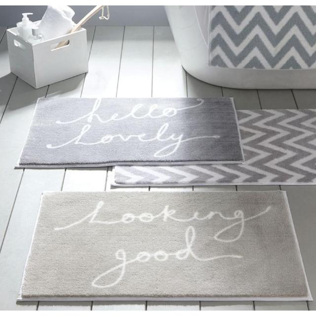 Dip Drip Grey White Hello Lovely Bathmat From Ocado