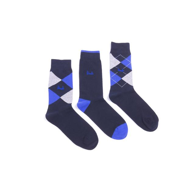 Pringle Mens Argyle Socks, Navy, Size 7-11