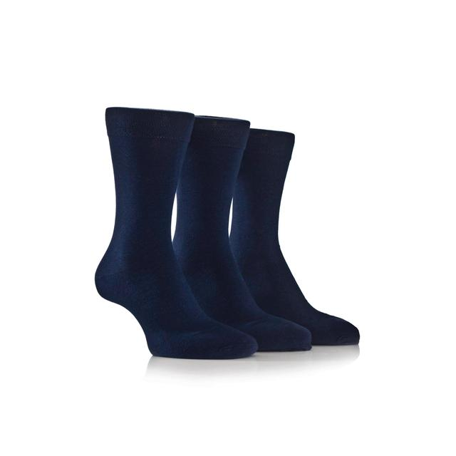 Farah Mens Cushioned Sole Socks, Navy, Size 6-11