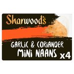 Sharwood's Naans Mini Garlic & Coriander