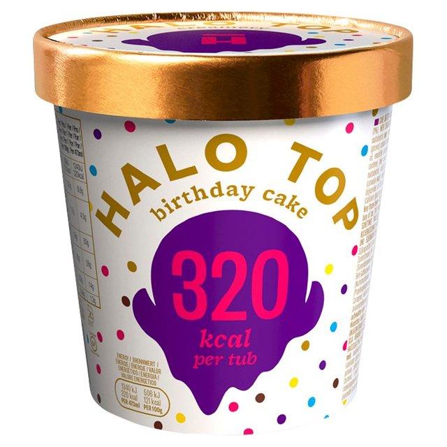 Strange Halo Top Birthday Cake Low Calorie Ice Cream Ocado Birthday Cards Printable Trancafe Filternl