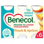 Benecol Cholesterol Lowering Yogurt Drink Peach & Apricot No Added Sugar