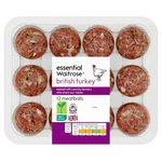 Waitrose Essential 12 British Turkey Meatballs