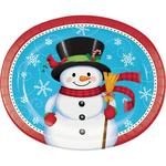 Snowman And Penguin Oval Platter