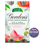 Gordon's Low Alcohol Gin & Tonic Drink With A Hint of Grapefruit