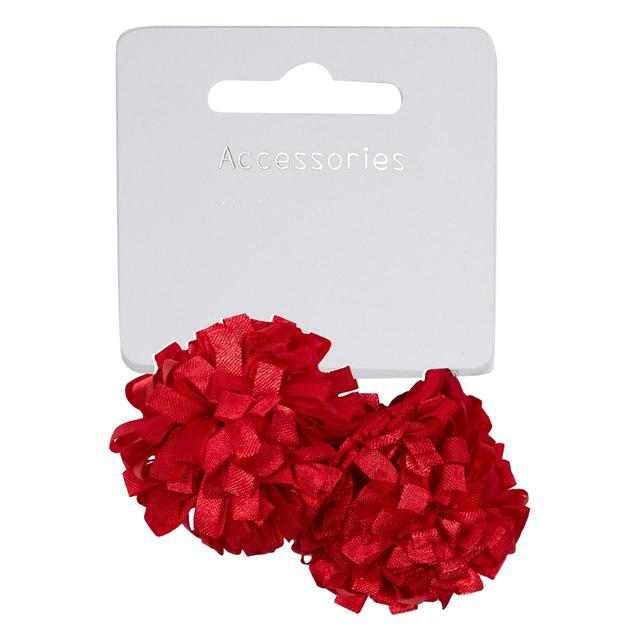 Waitrose Mini Pom Pom Hair Tie, Red