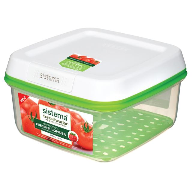 Sistema FreshWorks Large Square Food Storage Container, 2.6L ...