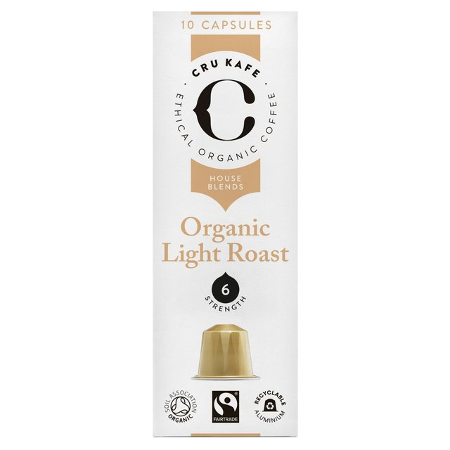 Cru Kafe Organic Light Roast Nespresso Compatible Coffee