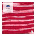 Duni 3ply Red Stripe Paper Napkins, 16.5cm