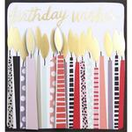 Caroline Gardner Birthday Wishes Candles Card