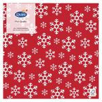 Red Christmas Snowflakes Paper Napkins