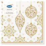 Gold Deco Christmas Paper Napkins