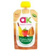 Annabel Karmel Organic Strawberry Banana & Coconut Milk Stage 1