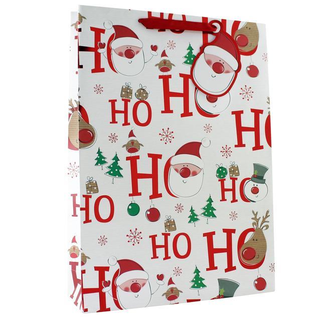 hohoho extra large christmas gift bag