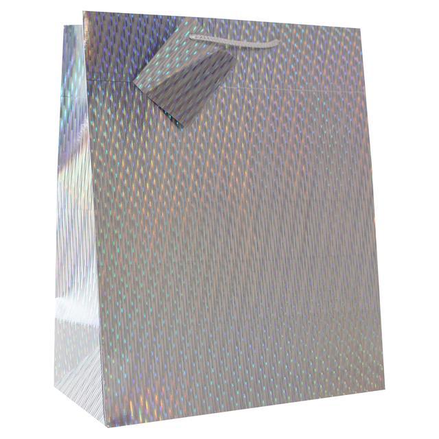 eurowrap large christmas gift bag silver - Large Christmas Gift Bags