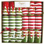 Elf Stockings Stripe Crackers